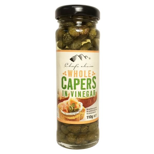 Chef's Choice Whole Capers in Vinegar