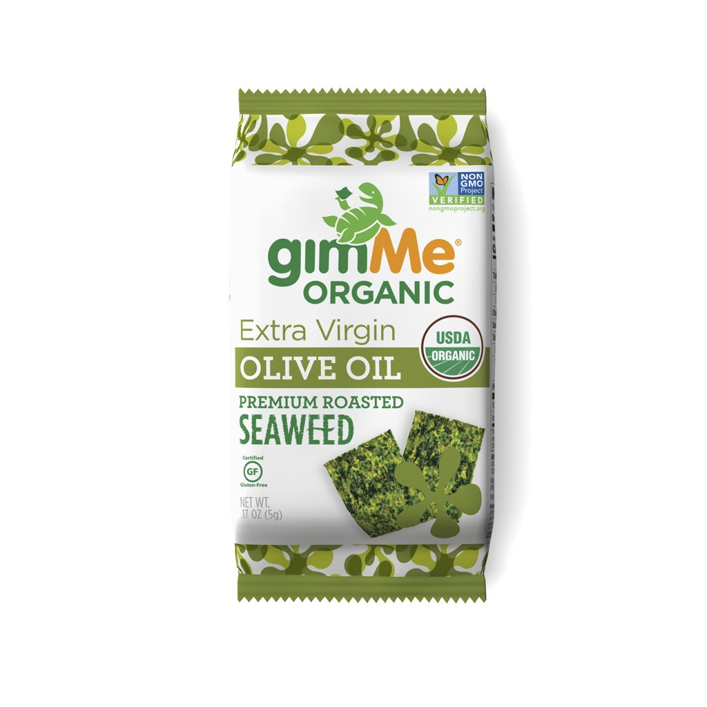 gimMe Organic Roasted Seaweed Snacks Olive Oil