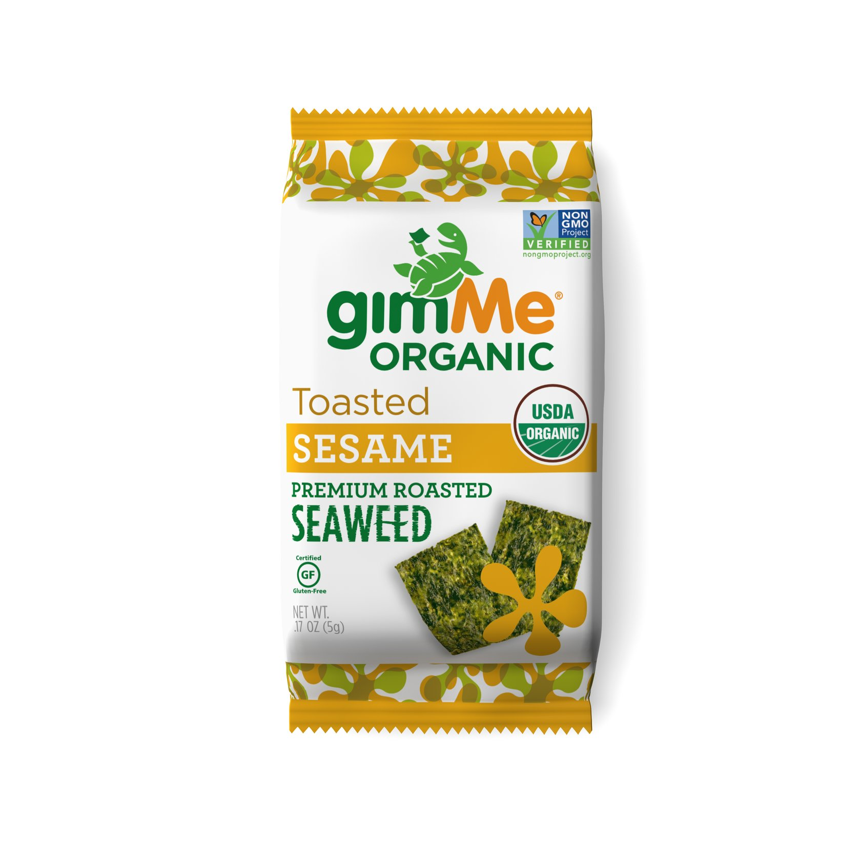 gimMe Organic Roasted Seaweed Snacks Sesame