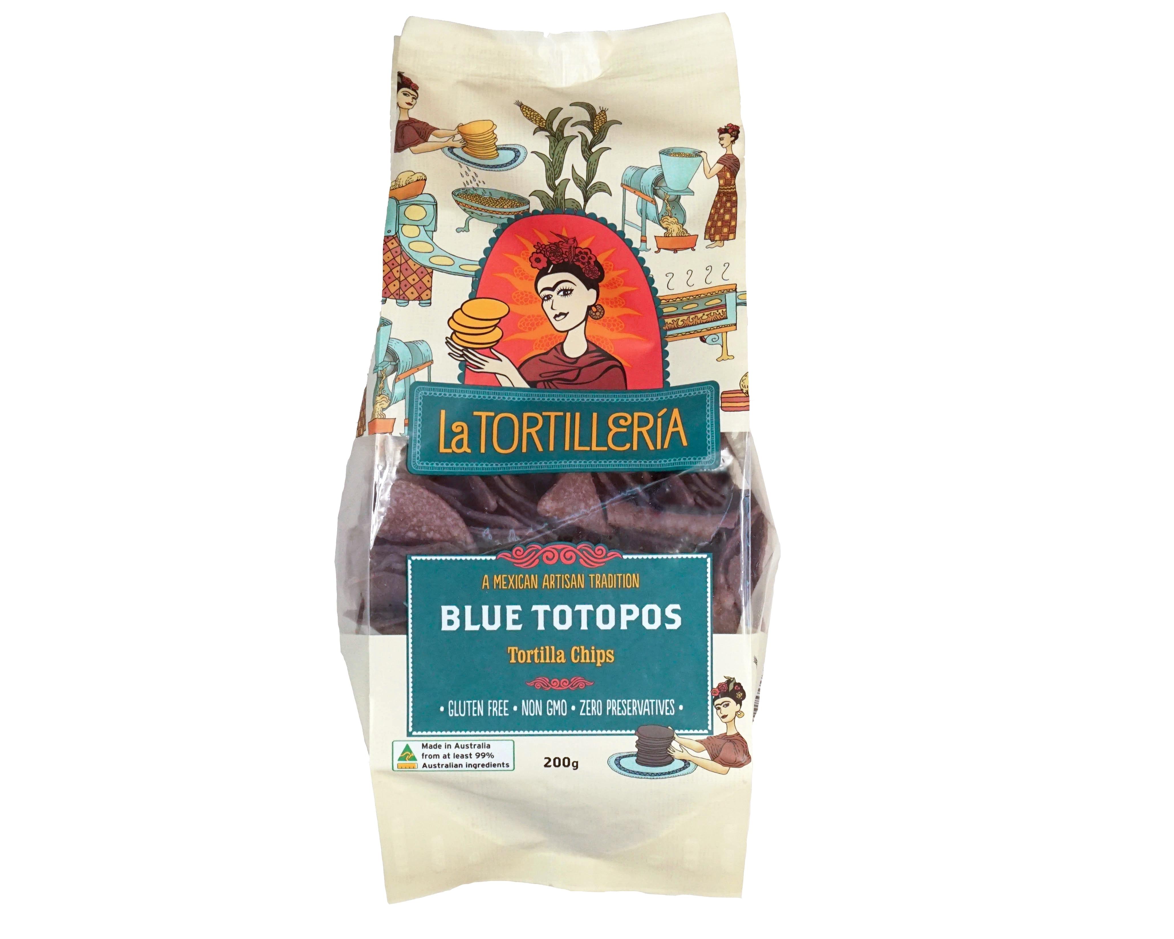 La Tortilleria Blue Totopos (Tortilla Chips)