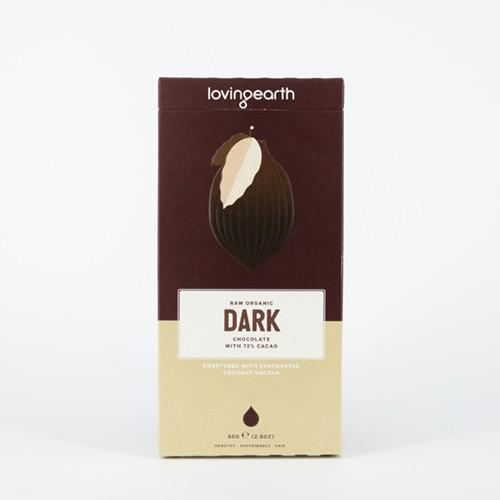 Loving Earth Organic Raw Dark Chocolate 72%