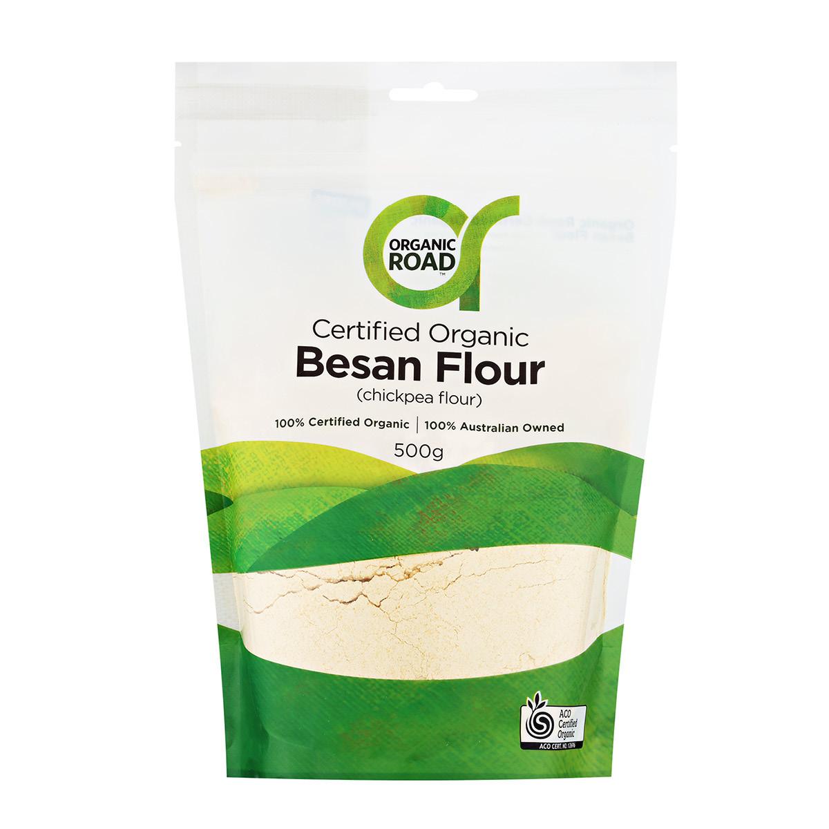 Organic Road Certified Organic Besan Flour (Chickpea Flour)