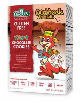 Orgran Gluten Free Outback Animals Biscuits Chocolate