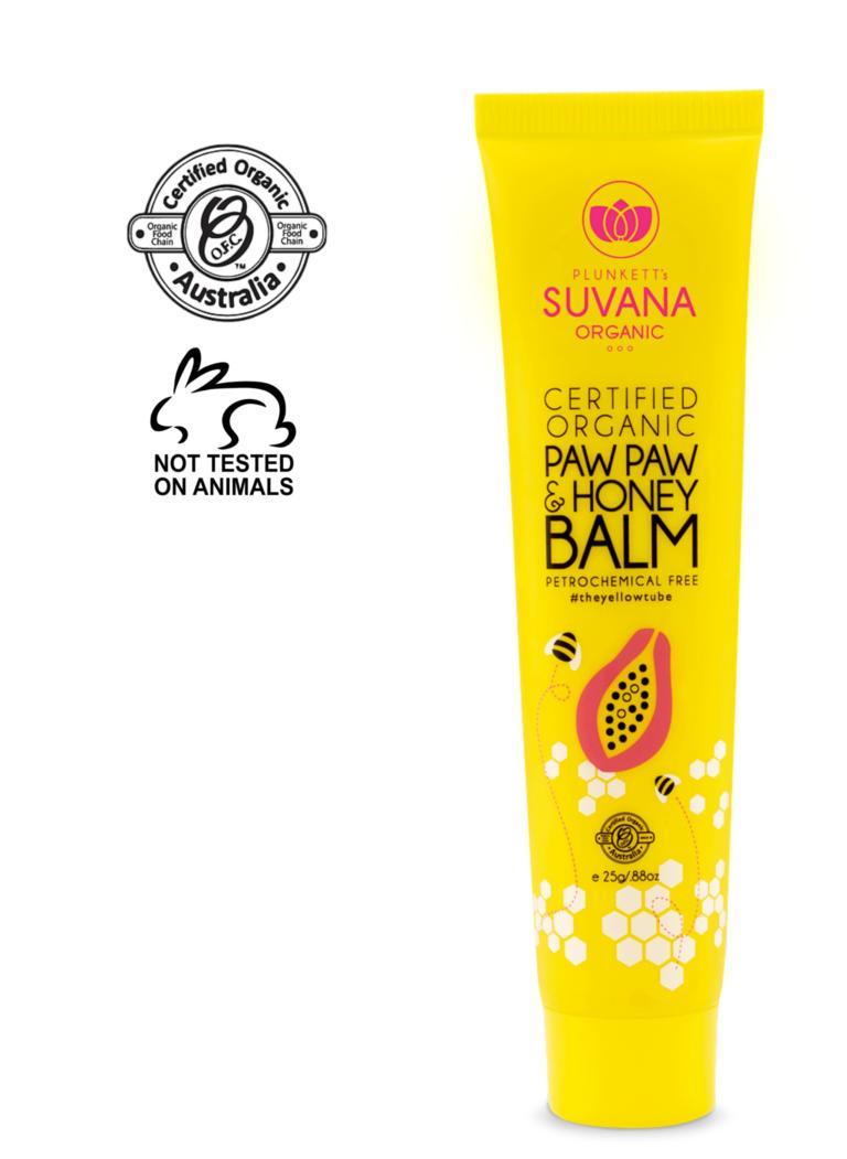 Suvana Certified Organic Lip Balm Paw Paw & Honey