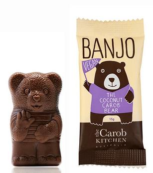 The Carob Kitchen Carob Bear Vegan Coconut (Banjo Bear)