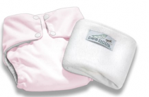 Pea Pods One Size Fits All Nappy - Pastel Pink