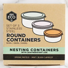 Ever Eco Set of 3 Stainless Steel Round Nesting Containers