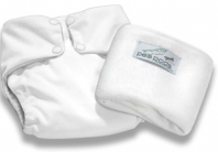 Pea Pods One Size Fits All Nappy - White