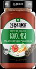 Ozganics Certified Organic Bolognese Pasta Sauce