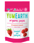 Yum Earth Organic Strawberry Pops