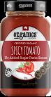 Ozganics Certified Organic Spicy Tomato Pasta Sauce