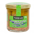 Fish 4 Ever Azores Tuna Fillets in Organic Olive Oil (Glass Jar)
