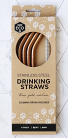 Ever Eco Stainless Steel Drinking Straws Bent Rose Gold Edition